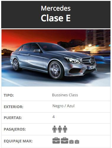 Mercedes Clase E, Alquiler de coches con conductor, Coexpress.
