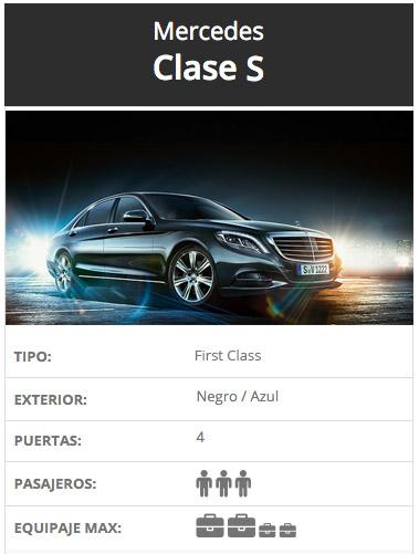 Mercedes Clase S, Alquiler de coches con conductor, Coexpress.