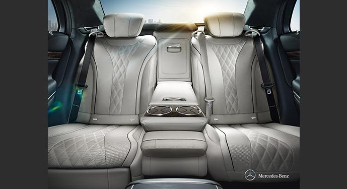 Mercedes Clase S interior. Alquiler de coches con conductor, Coexpress
